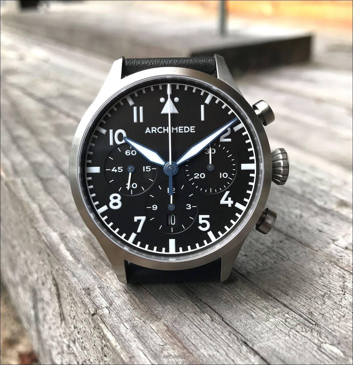 ARCHIMEDE Pilot TriKompax Chronograph