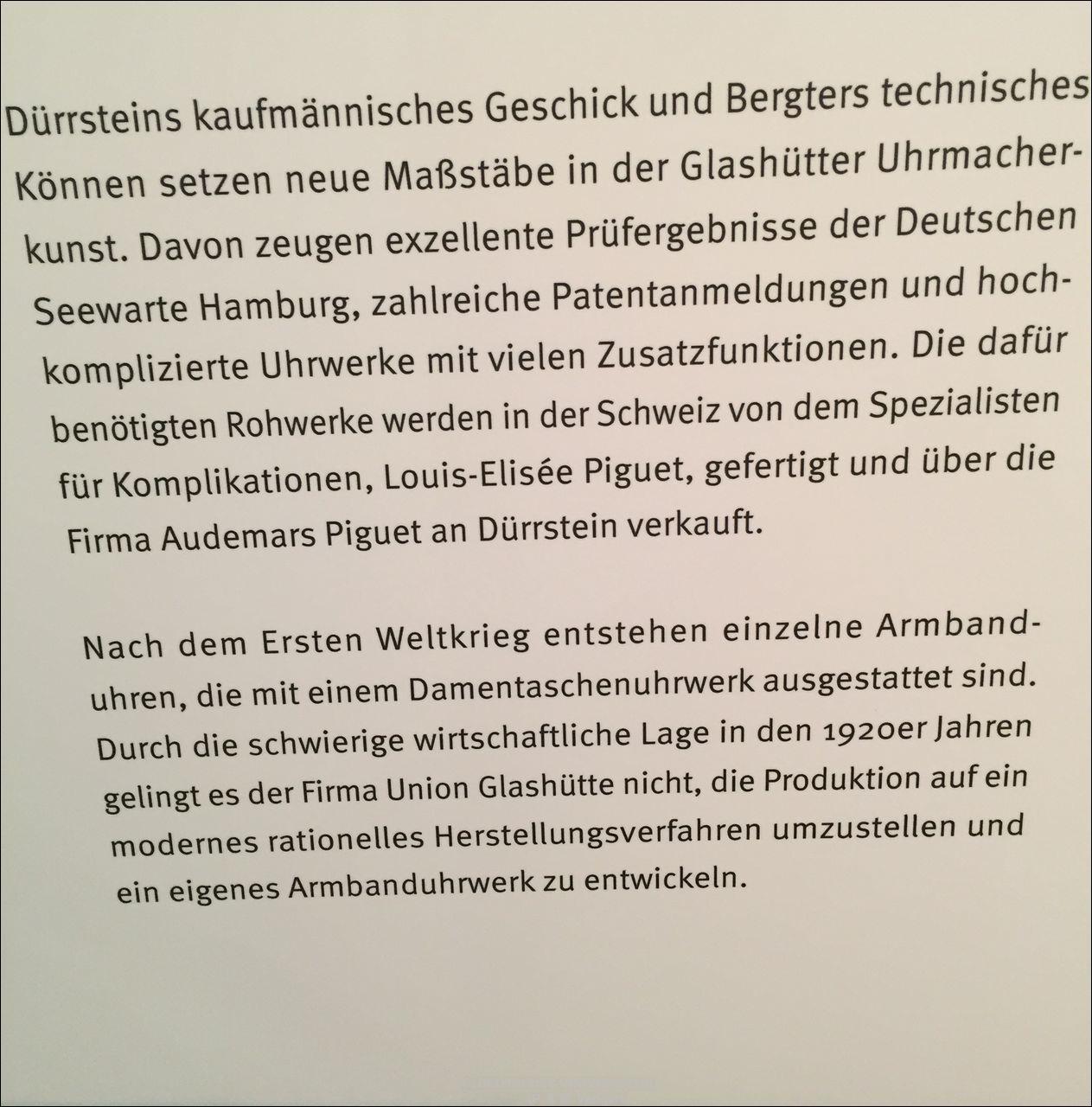Union Glashütte > 125. Jubiläum > Deutsches Uhrenmuseum Glashütte > Sonderausstellung
