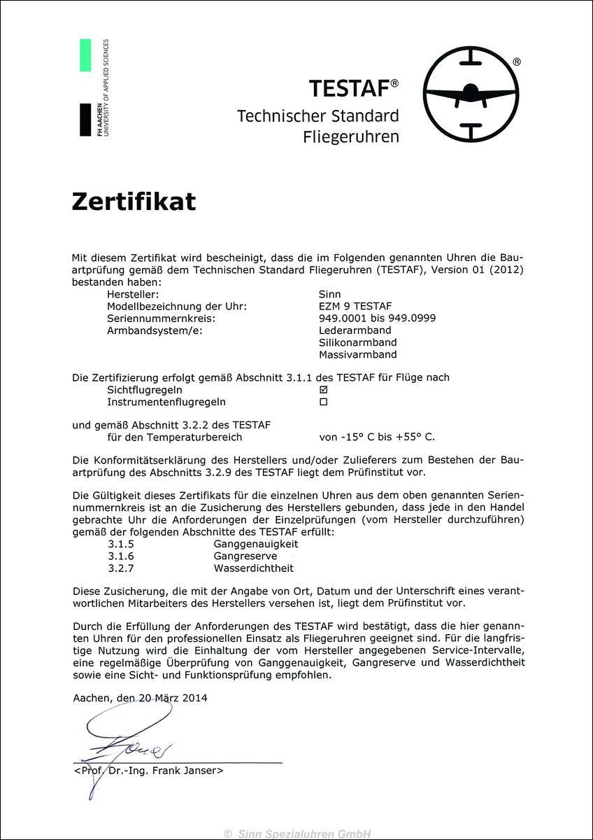 SINN > EZM 9 TESTAF