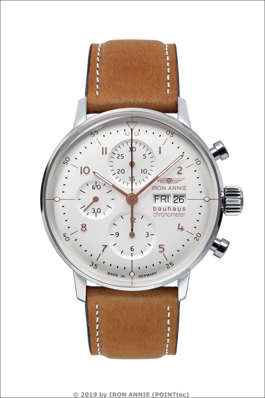 IRON ANNIE Bauhaus Chronometer Chronograph, Sternwarte Glashütte > Ref. 5020