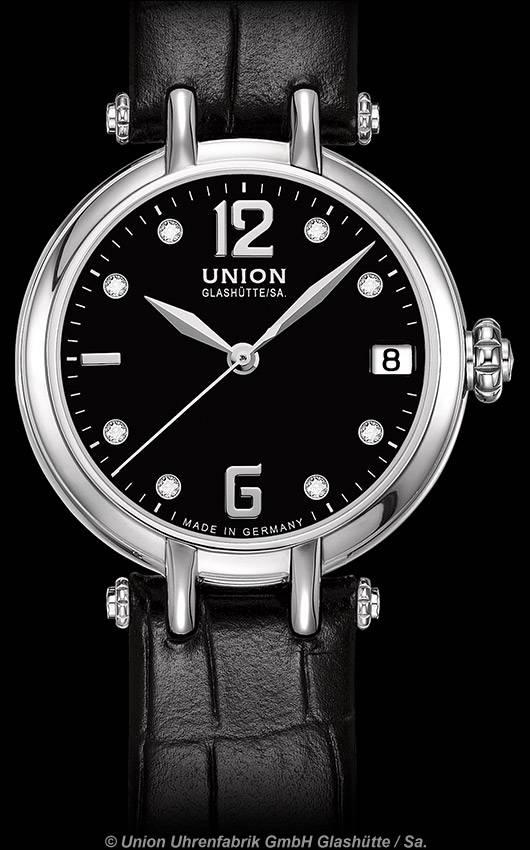 UNION GLASHÜTTE - Sirona Datum Lederband