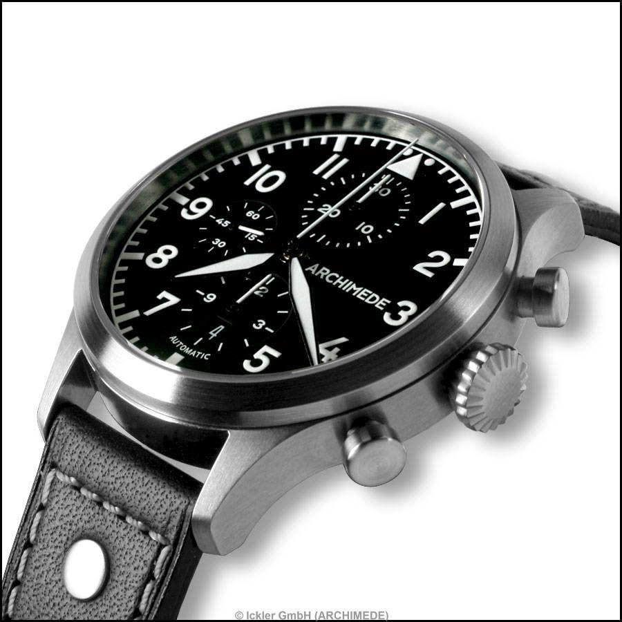 Archimede > Pilot Chronograph Automatik