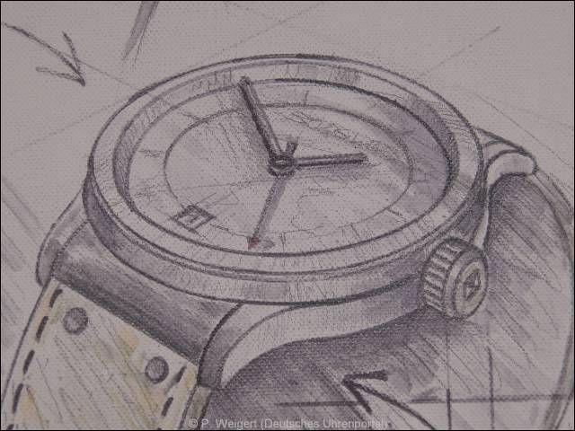 Im Bild der von Roland Schwob der skizzierte Entwurf der Serie B511