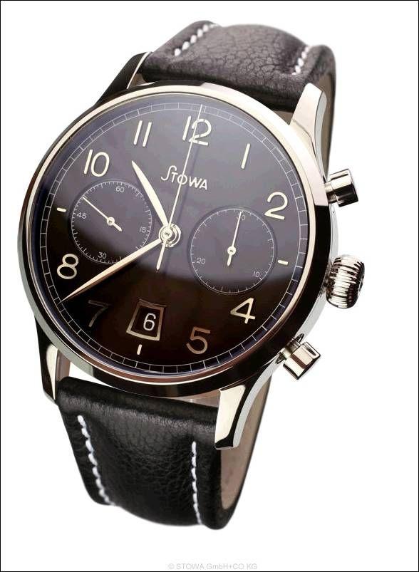 Chronograph 1938, schwarz, Datum