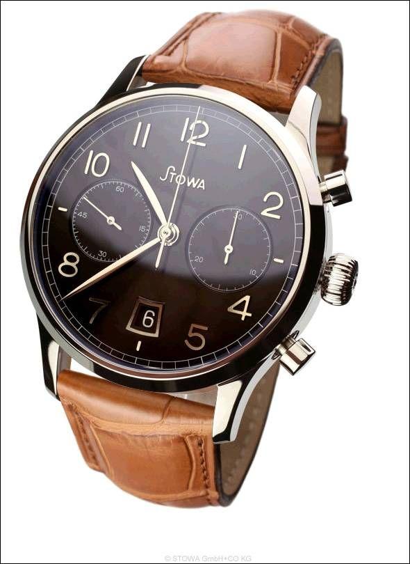 Chronograph 1938, schwarz poliert