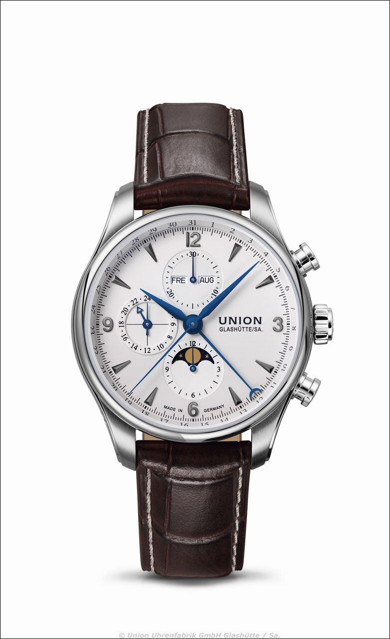 Union Glashütte > BELISAR Chronograph mit Mondphase > Referenz: D009.425.16.017.00