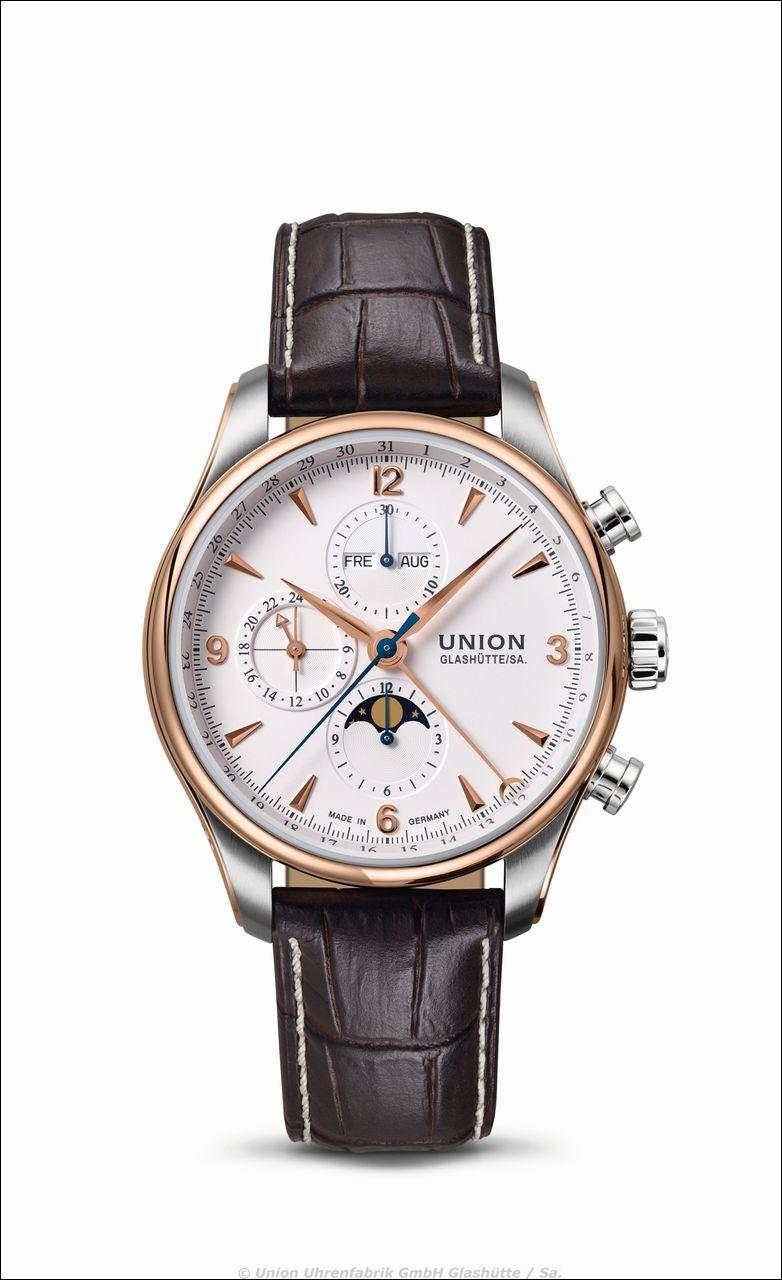 Union Glashütte > BELISAR Chronograph mit Mondphase > Referenz: D009.425.16.017.01