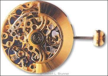 """Das Bild zeigt die meisterhaft skelettierte Form dieses Uhrwerks, angefertigt von Chronoswiss für das Modell """"Opus""""."""