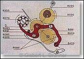 Das Zwischenrad verbindet Sekundenrad und Chrono-Zentrumsrad