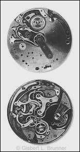 Ebauche eines Chronographen, Vorder- und Rückseite